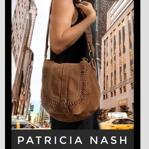 Auth Patricia Nash suede leather handbag purse